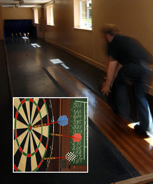 2 skittle alleys and darts at the 37 club