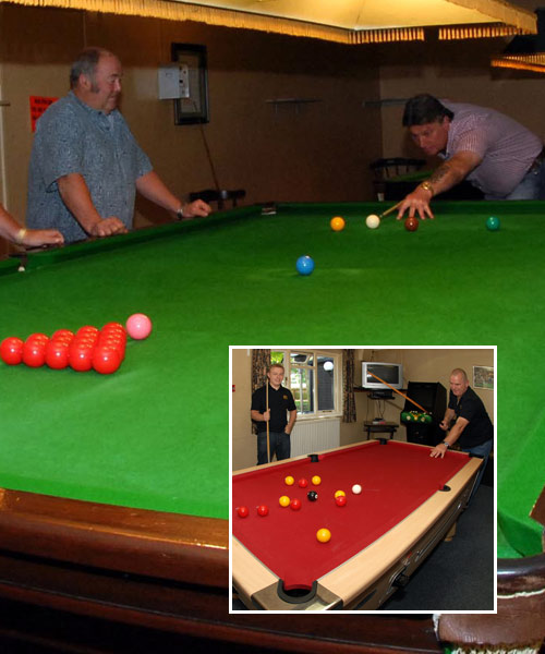 5 Snooker Tables 1 Pool Table 37 Club
